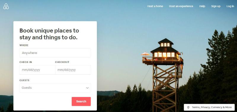 airbnb web design