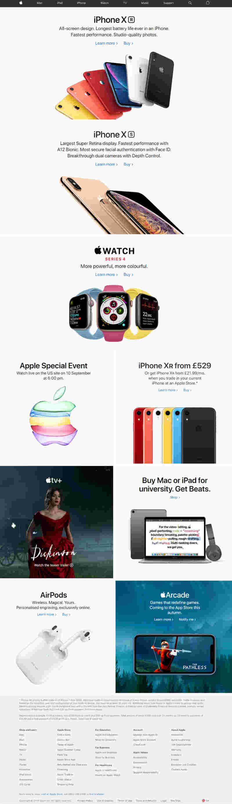 apple web example