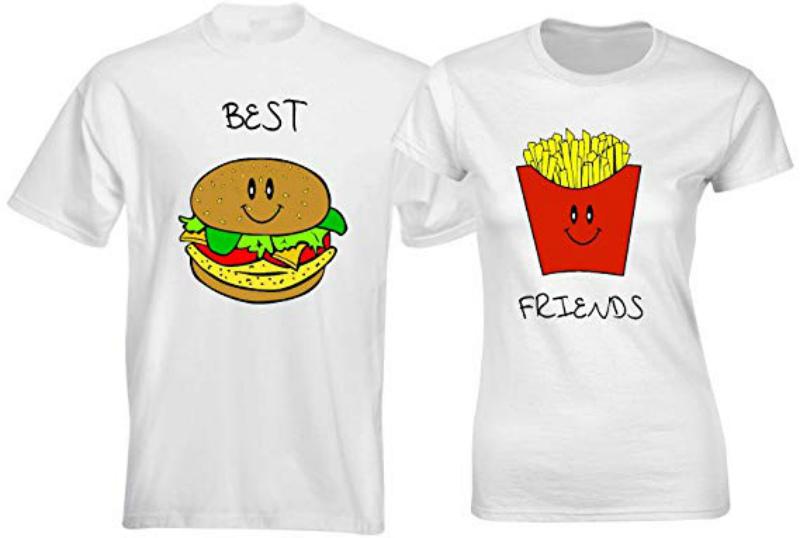 burger and fries print