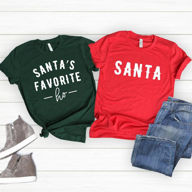 funny santa shirt print