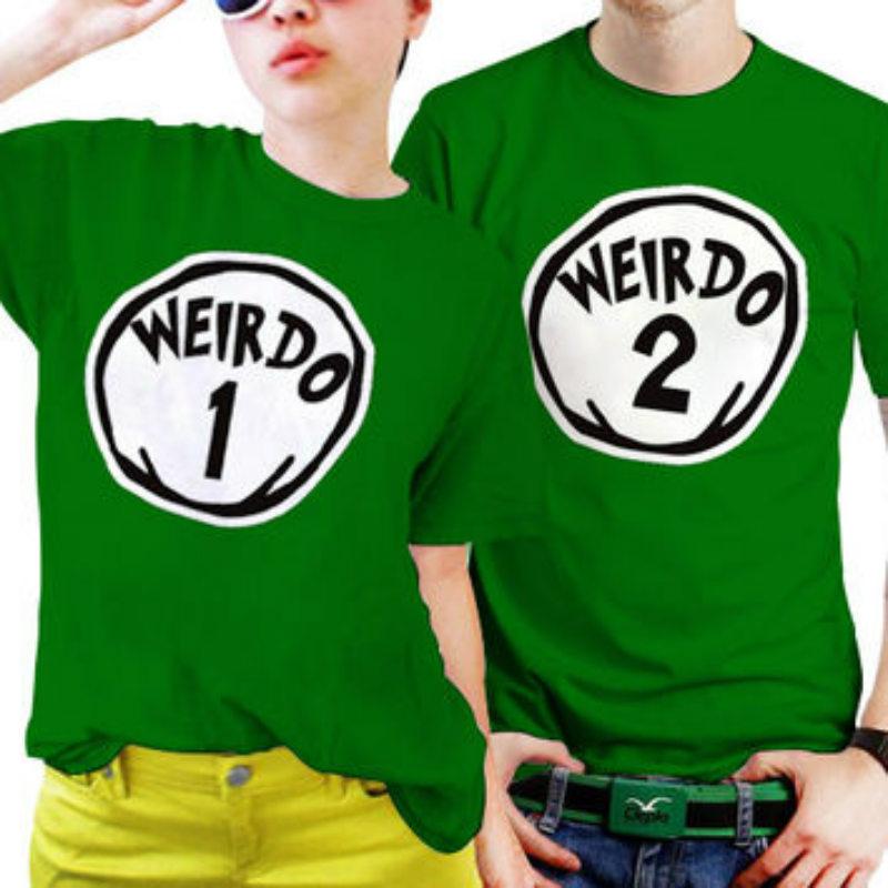 weird shirt print for couples