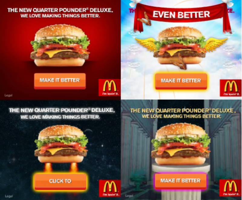 MCDONALDS online marketing