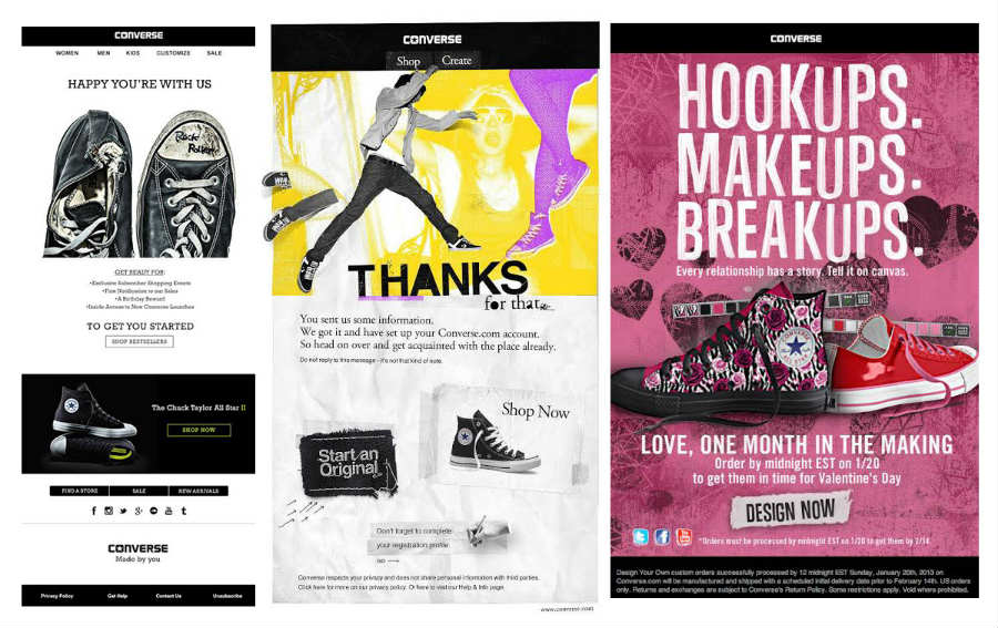 converse email marketing