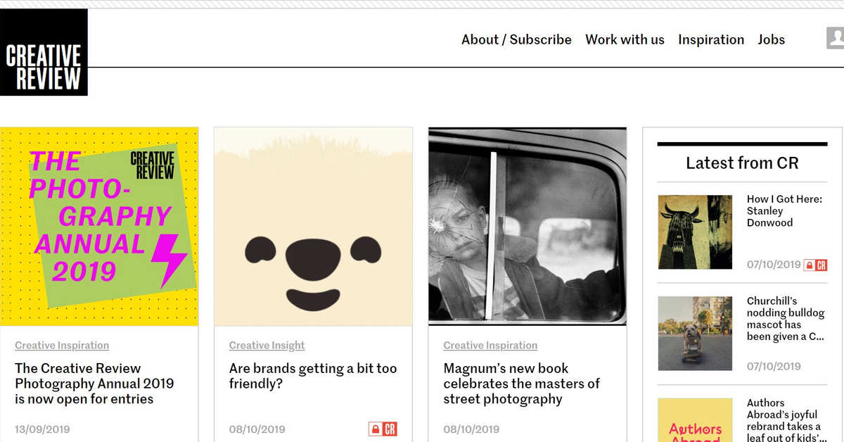 creative review homepage