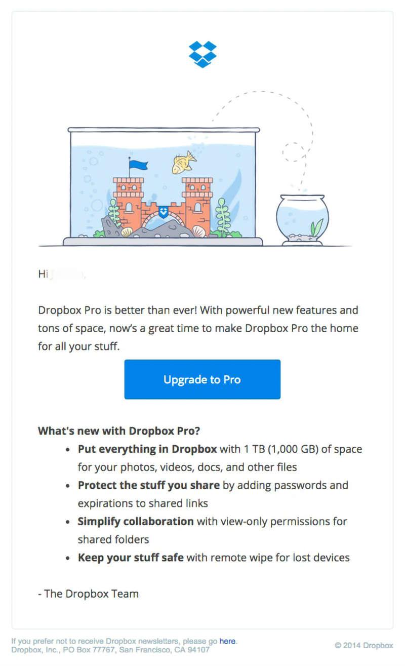 dropbox email marketing