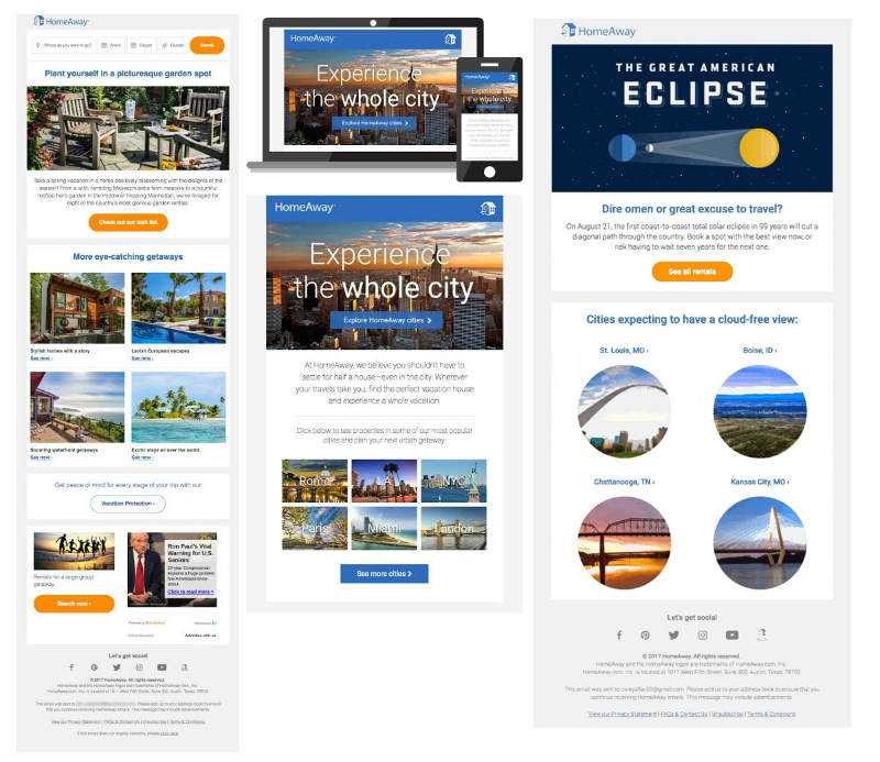 homeaway email marketing