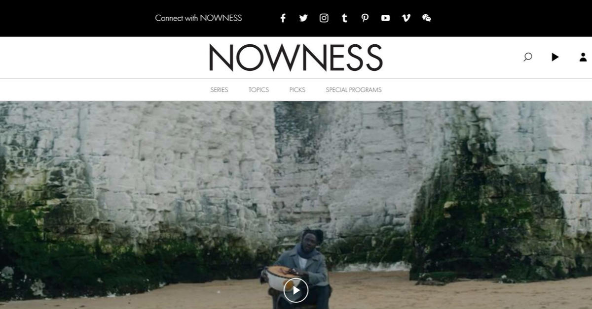 nowness homepage