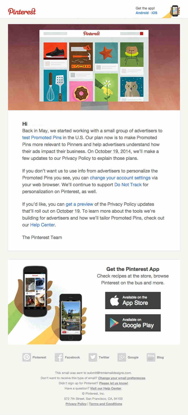 pinterest email marketing
