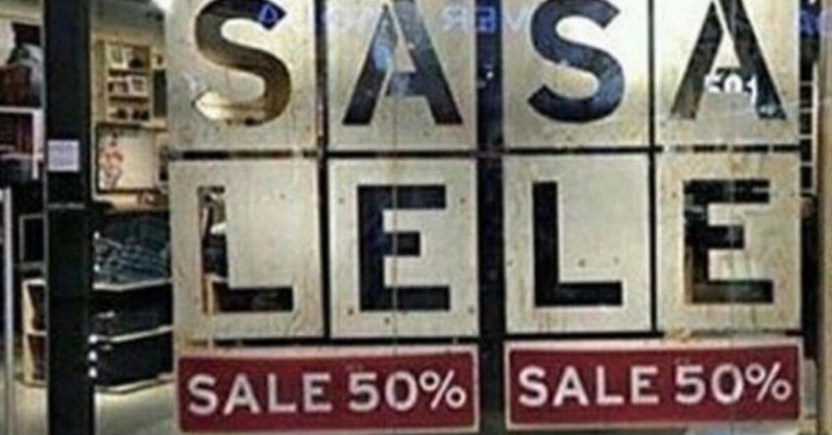 sale sign on storefront