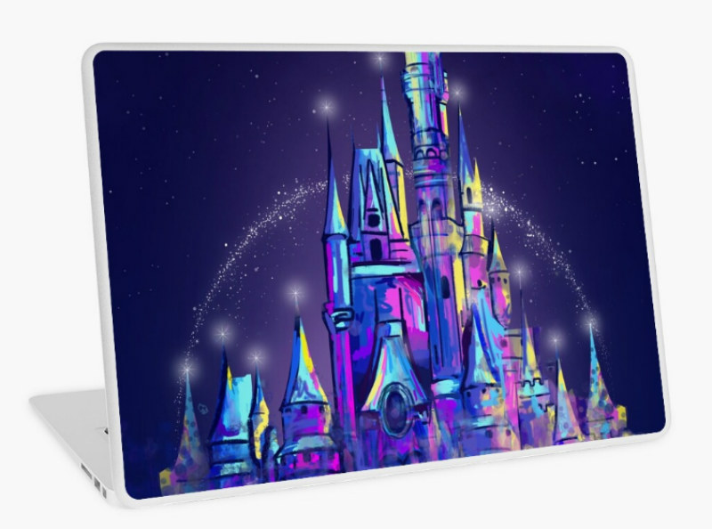 castle laptop sticker design