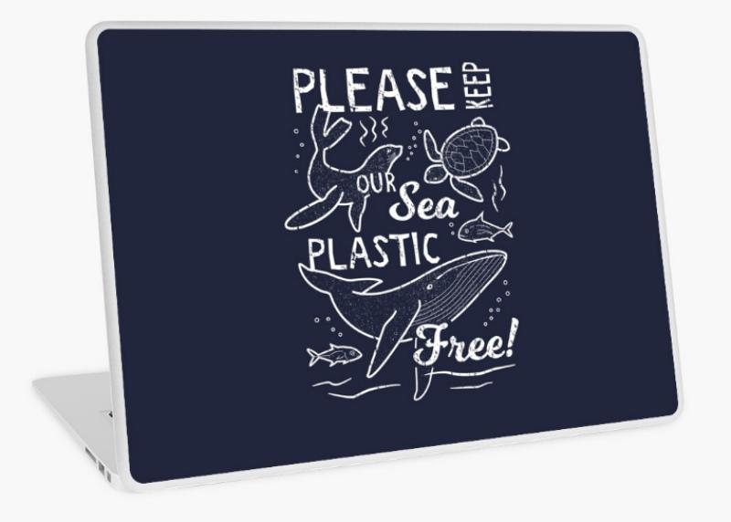 environment laptop sticker design
