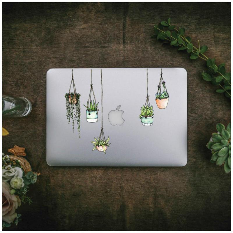 plants laptop sticker design