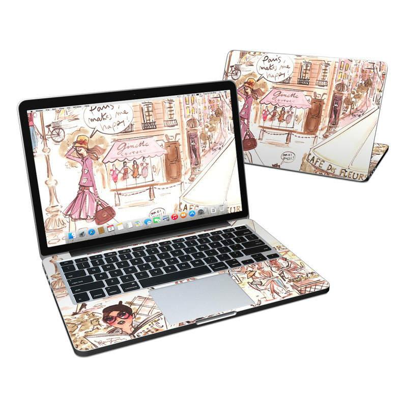 paris laptop sticker design