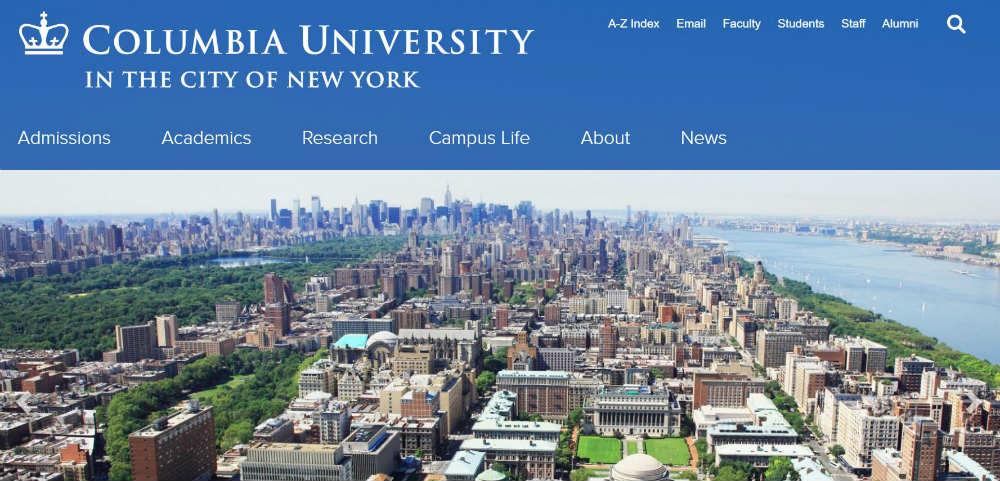 Columbia_University website