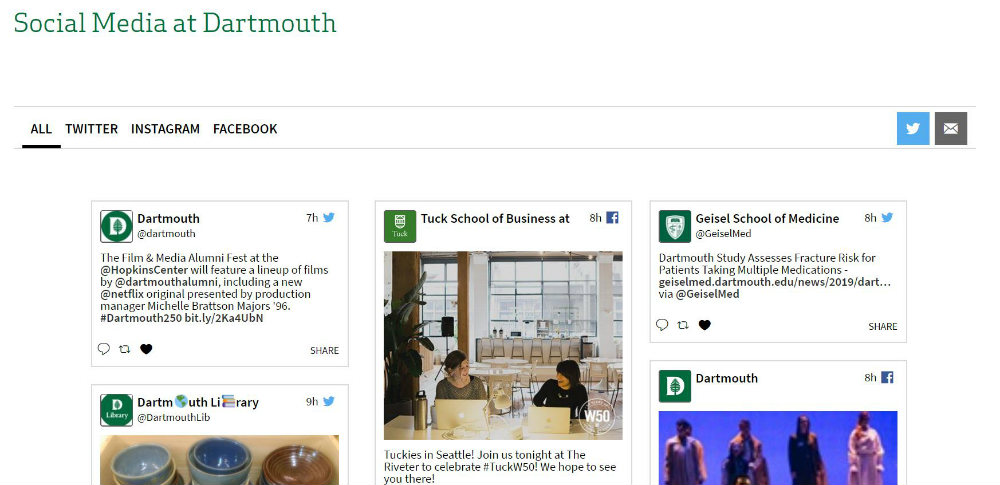 Darthmouth website