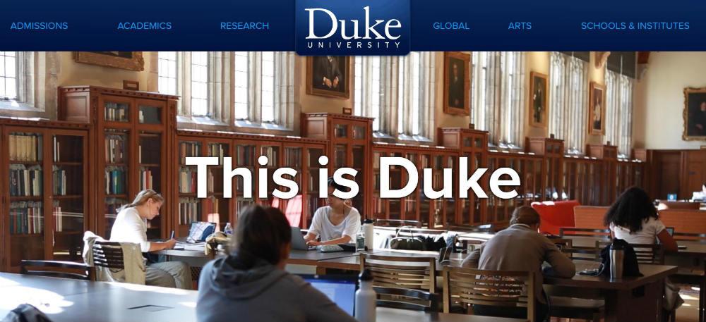 Duke_University website