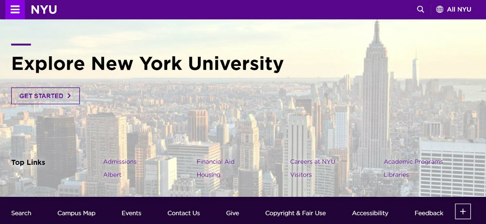 New_York_University website