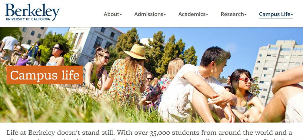 University_of_California_Berkley website