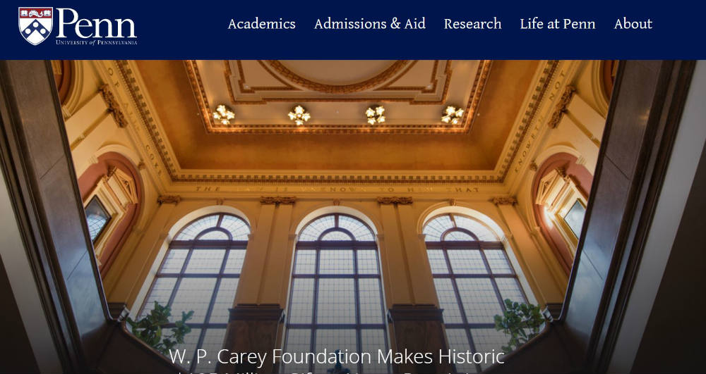 University_of_Pennsylvania website
