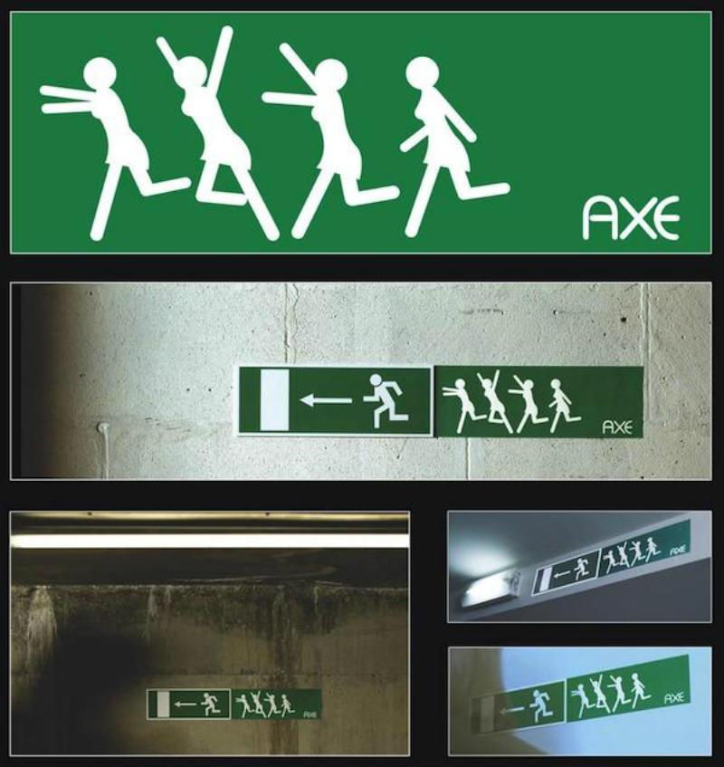 axe sticker marketing
