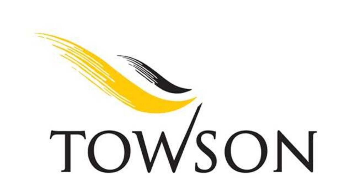 towson university old logo design