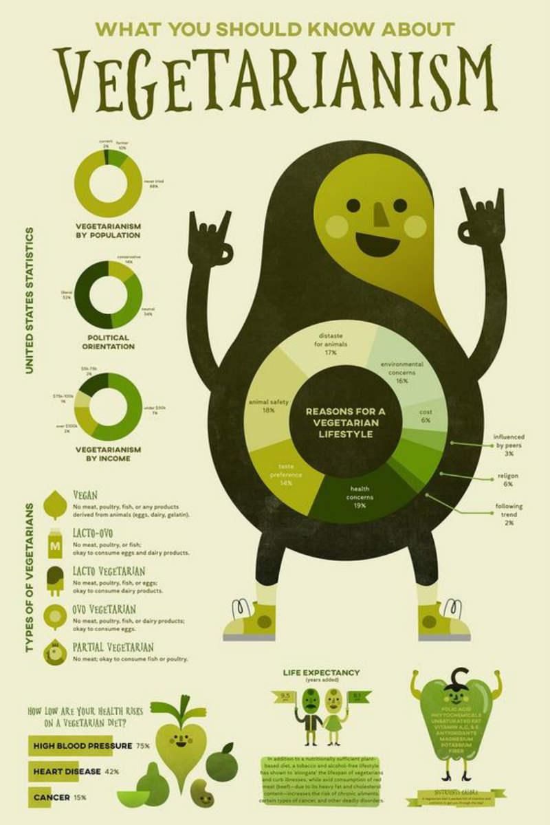 vegetarianism infographic