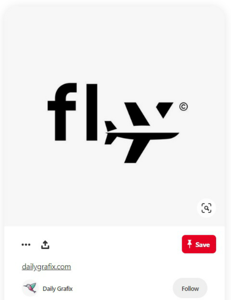 fly icon and text post
