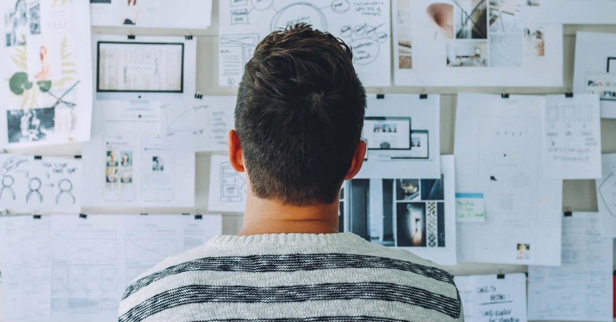graphic designer thinking