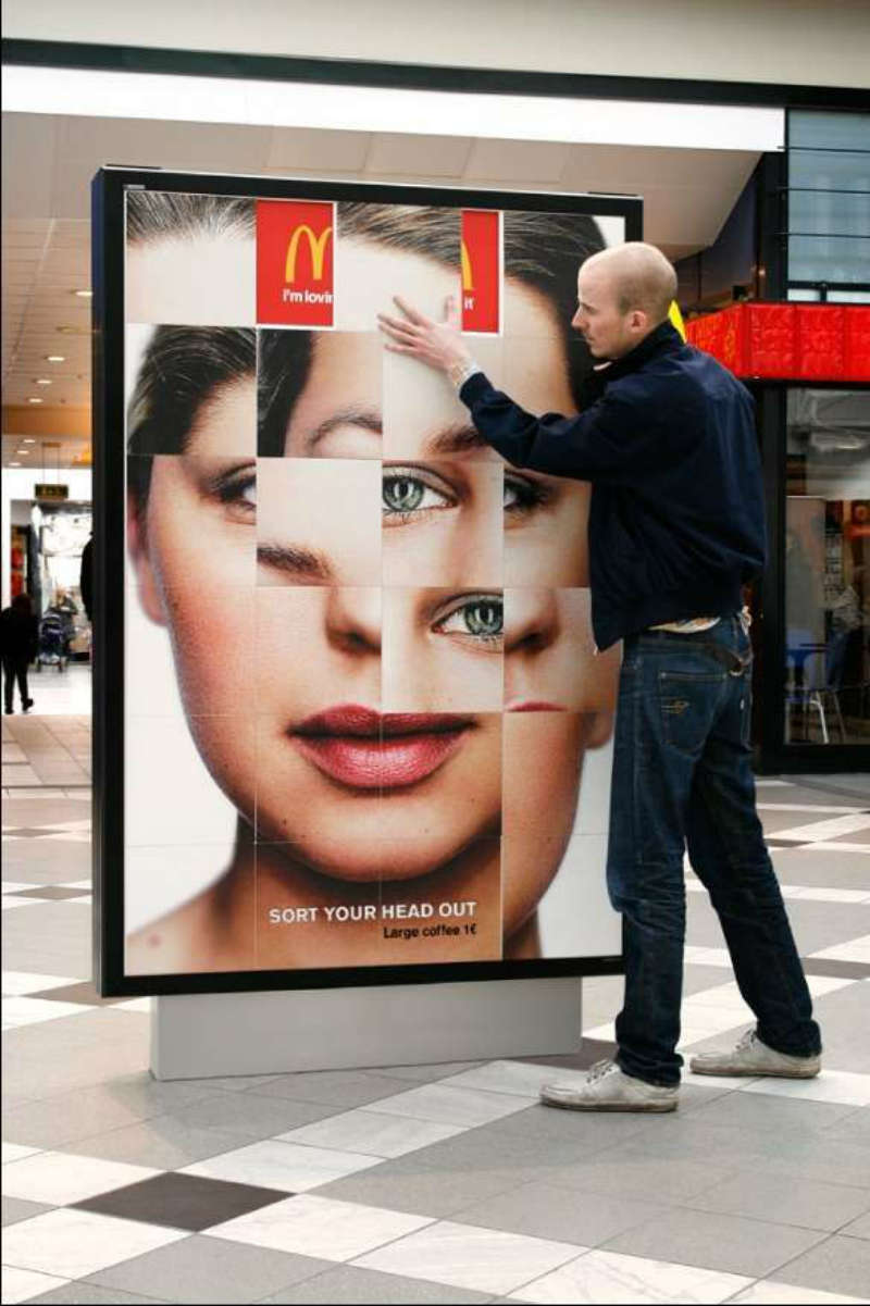 mcdonalds billboard puzzle