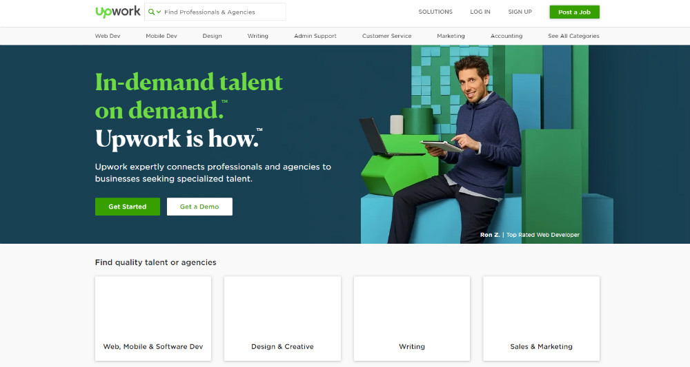 web designer search site example