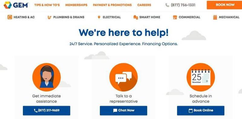 GEM web page design