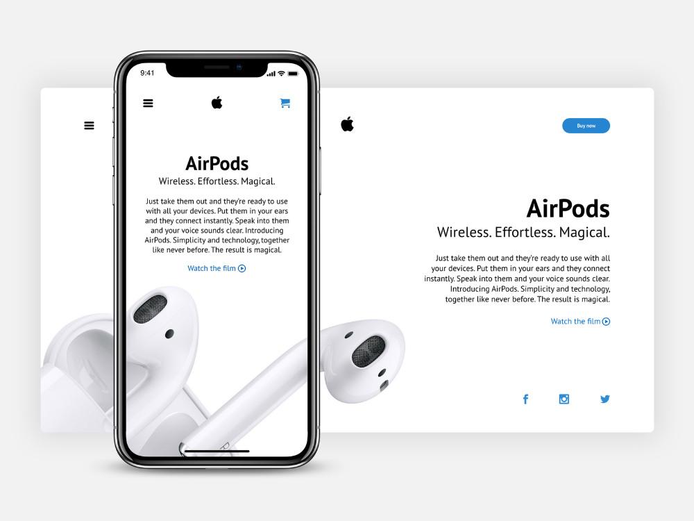 apple web page design