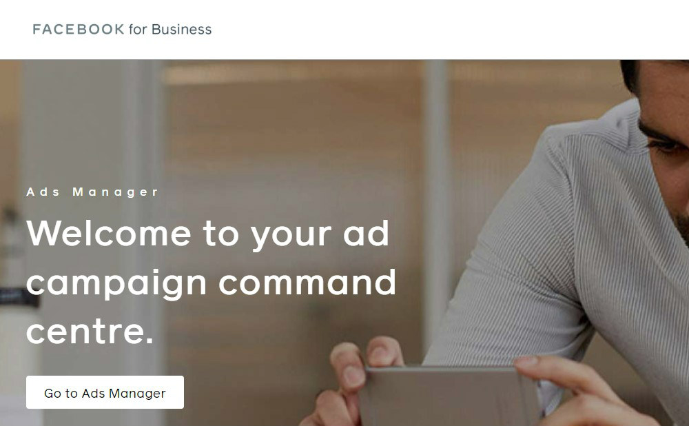 FB ads manager page