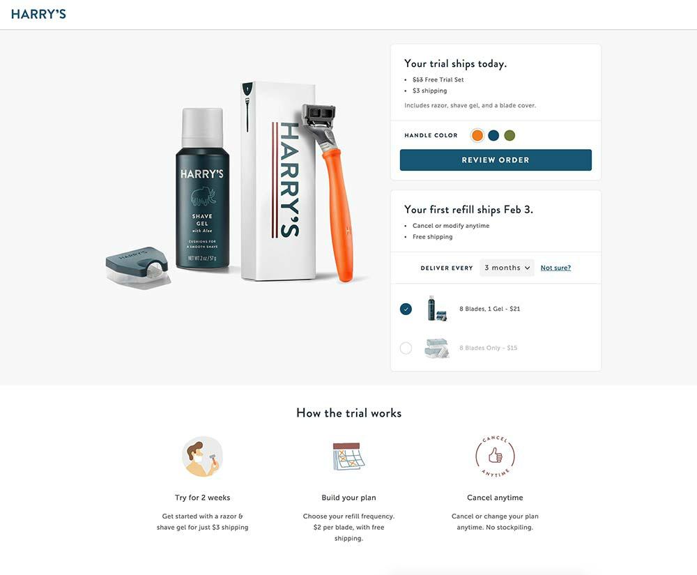 harrys web page design