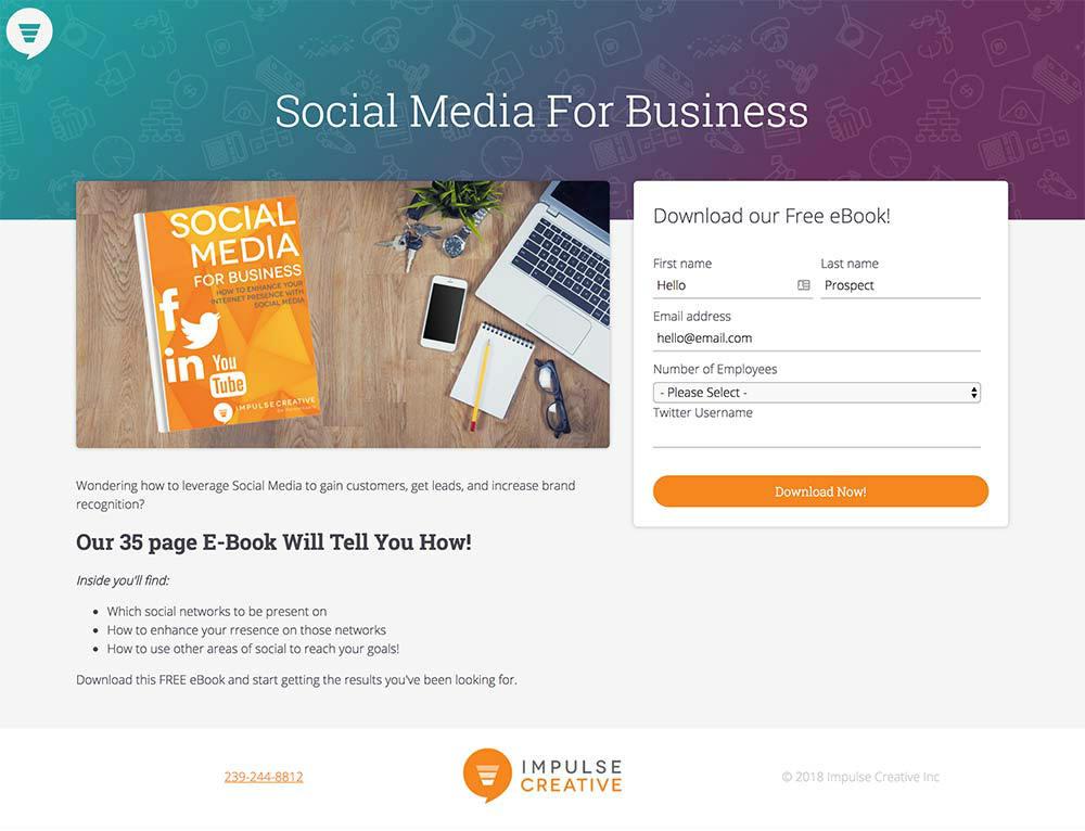 impulsive creative web page design
