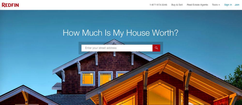 redfin web page design