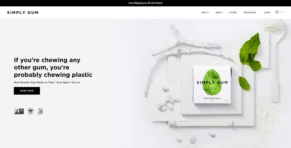 simply-gum homepage