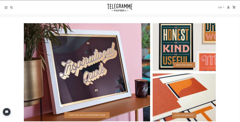 telegramme homepage