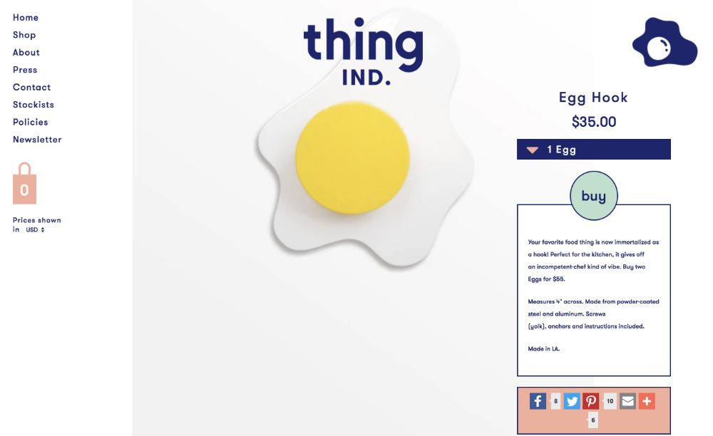 online store web design example