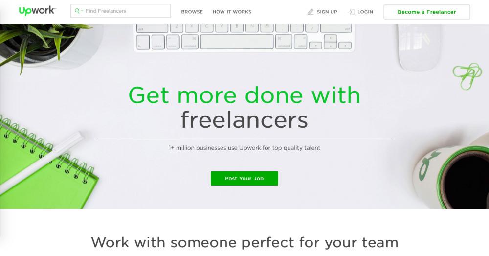 upwork web page design