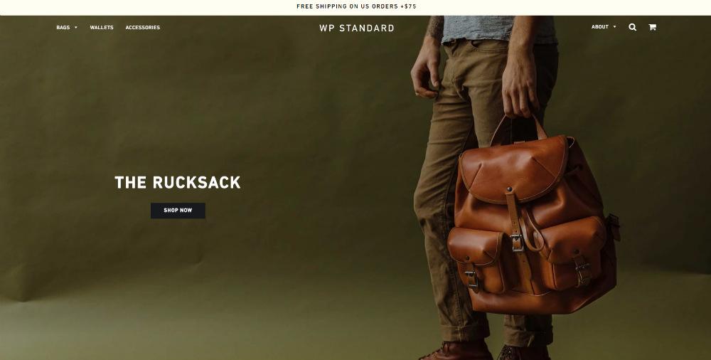 wpstandard homepage