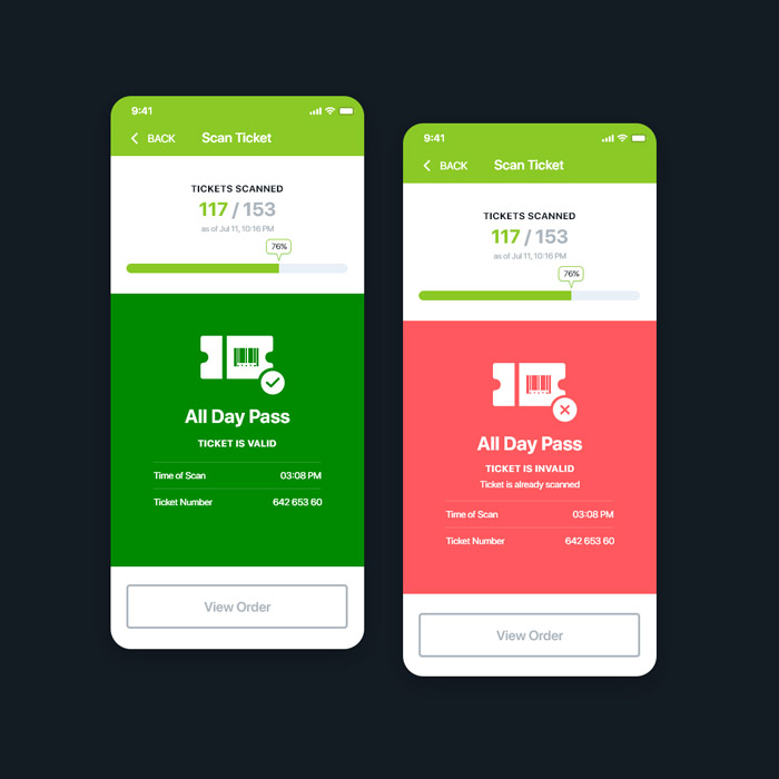 Scan Ticket App Design