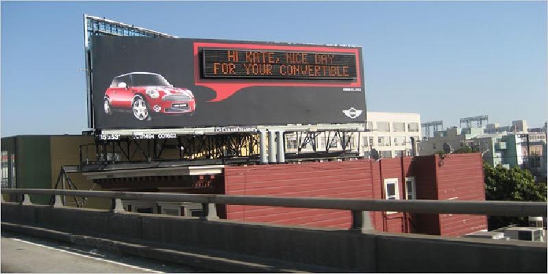 talking billboard campaign