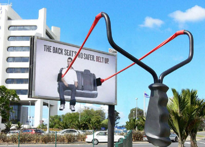 Australia seatbelt reminder campaign