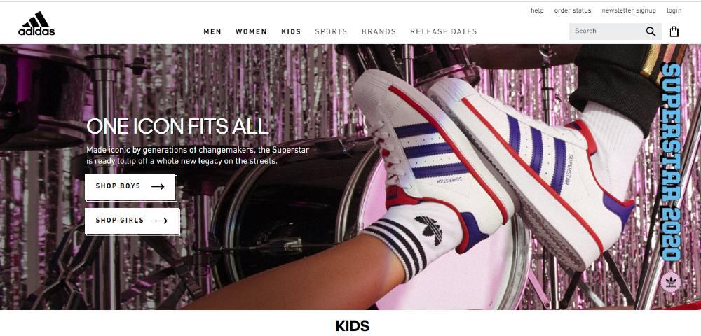 website graphic design example