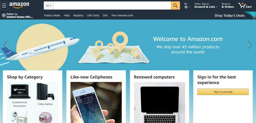 ecommerce web design example