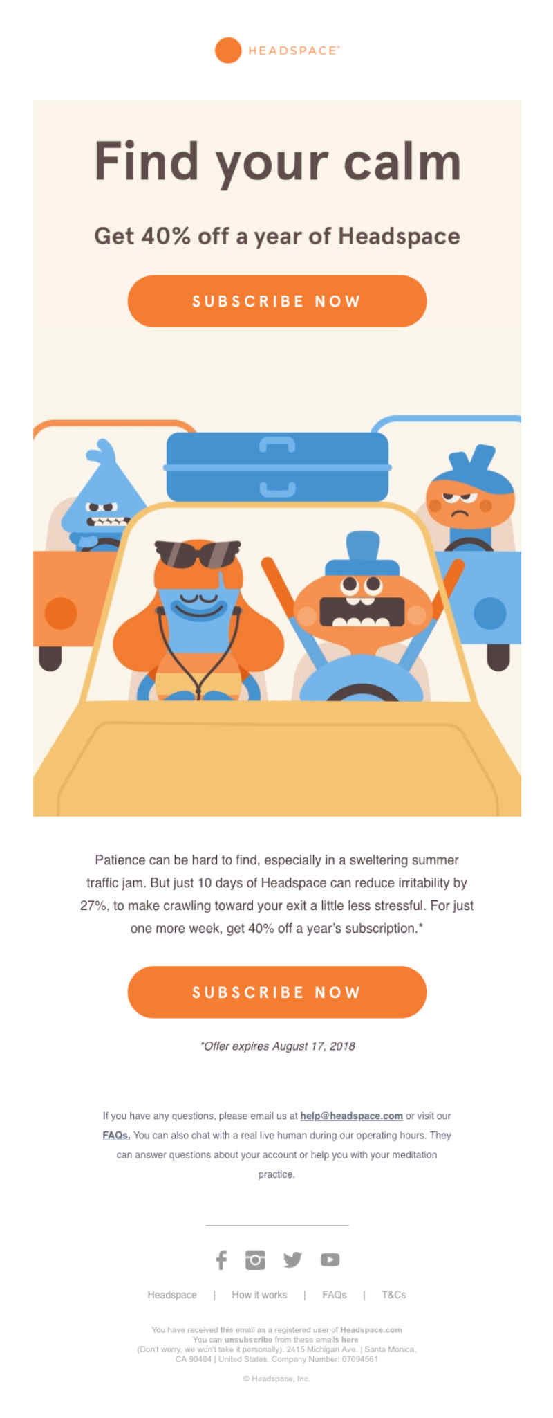 headspace newsletter