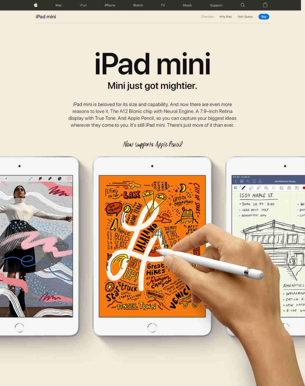 apple web page