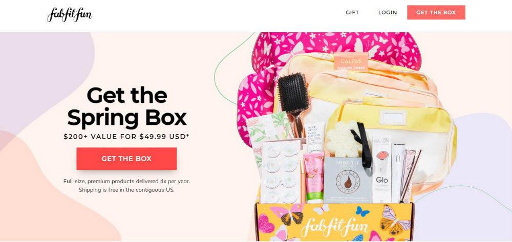 fabfitfun web page