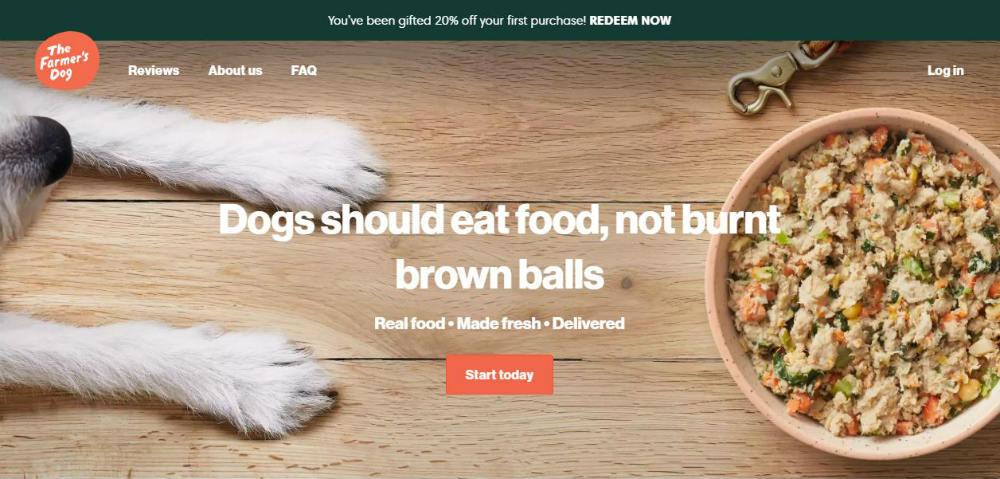 farmers_dog web page